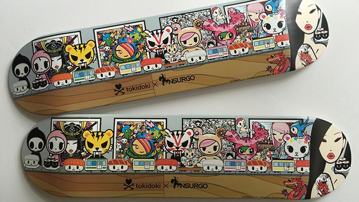 Tokidoki x Nsurgo Kaiten Sushi Skate Deck
