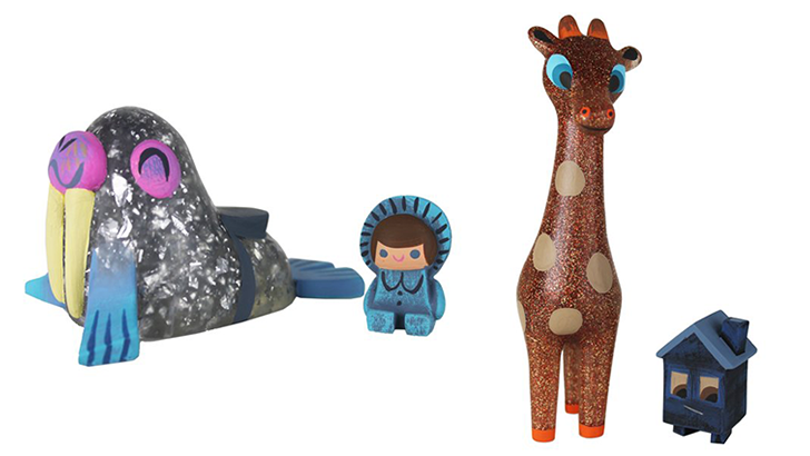 Amanda Visell Iceberg Walrus & Rider and Brownout Sparkle Giraffe