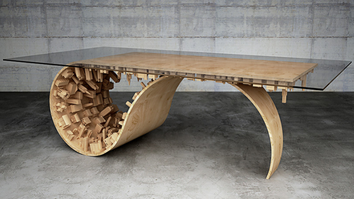wave city dining tablestelios mousarris | clutter magazine
