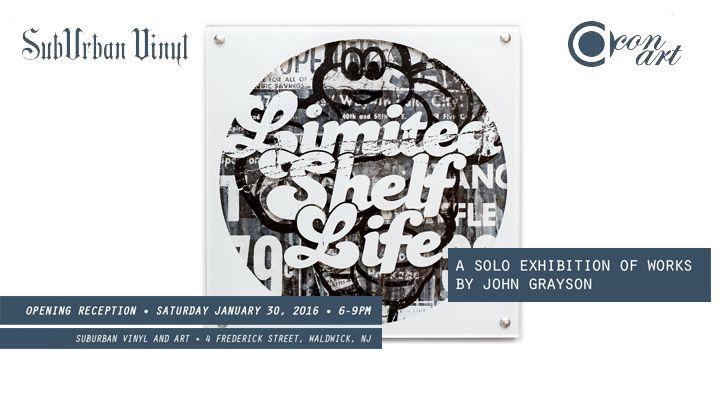 "Con Art's ""Limited Shelf Life"" Exhibition at SubUrban Vinyl!"