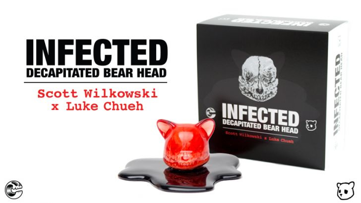Wilkowksi x Chueh; Infected Decapitated Bear Head - Blood Red Edition!