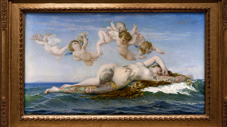 Famous Painting Subjects Tattooed by Nicolas Amiard