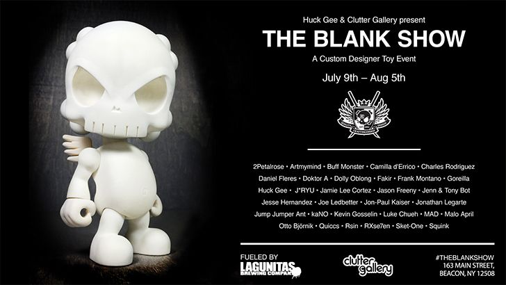 """Huck Gee and Clutter Gallery Present """"The Blank Show""""!"""