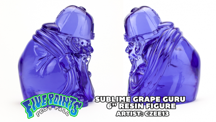 "SUBLIME GRAPE GURU 6"" RESIN RELEASE - By Czee x Clutter Studios."