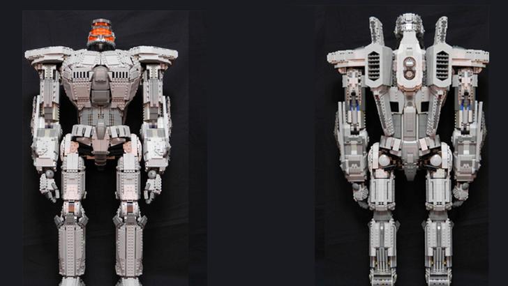 2-Foot Tall Pacific Rim Jaeger LEGO Sculpture