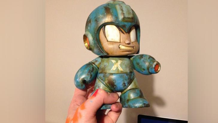WIP   Custom Kidrobot Mega Man by Squink