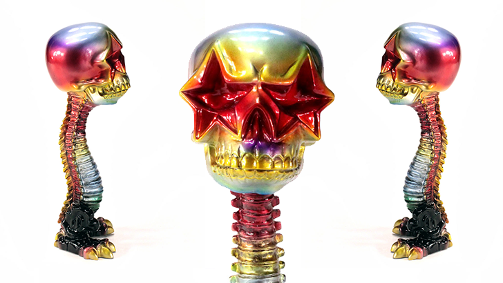 Ron English Star Skull Walking Stick