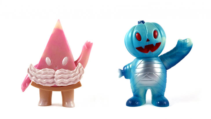 Super7 Valentine's Day Pie Guy and Blue Magic Pumpkin Boy