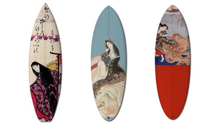 boom art Prints Hokusai & Other Japanese Art on Surf Boards