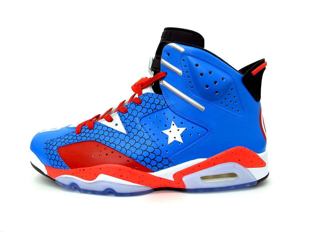 Captain America Air Jordans 0caa78266